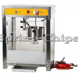 Prof. Comme. Popcorn Machine Accu 12V+Gas INOX S