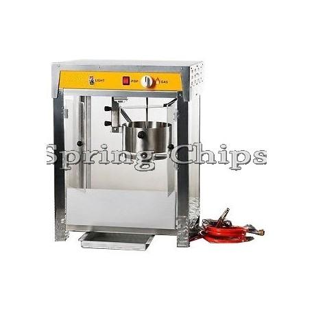 Prof. Comme. Popcorn Machine Accu 12V+Gas INOX S