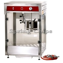 Prof. Comme. Popcorn Machine Accu12V+Gas INOX BIG