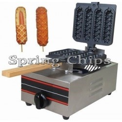 Profi. CORN DOG & Waffeleisen Waffeln am Stiel -GAS