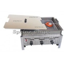 Prof. Gas Fryer 3-burner