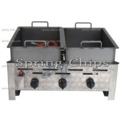 Gas Fryer 3-burner DUO 2*1/2